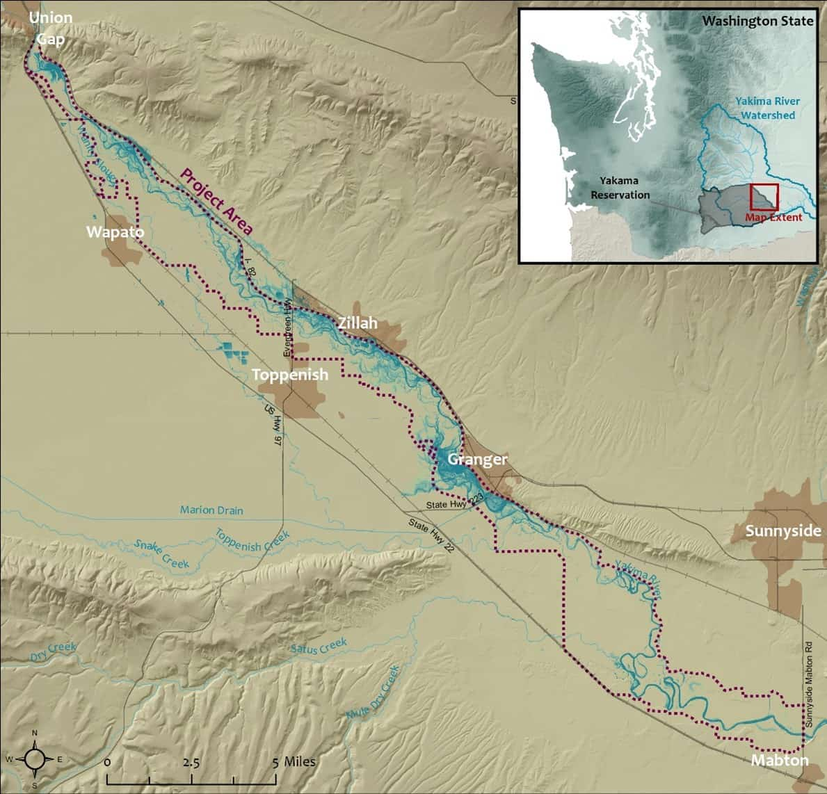 Yakima River Wapato Reach Riparian Restoration
